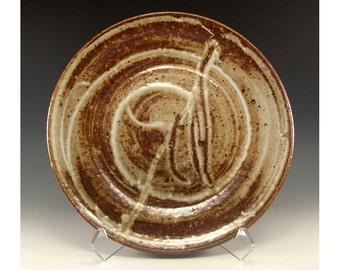 Vintage Salt Fired Pottery Plate