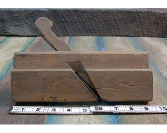 Vintage Wooden Molding Plane For Concave Surfaces