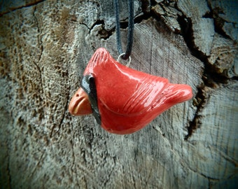 Ceramic Whistling Cardinal