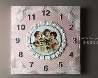 Artwork Wall CLOCK * Modern Wall Clock * Vintage style Decorative Accent
