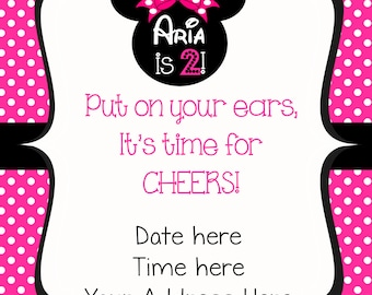 Oh Twodles Minnie Mouse Invitation