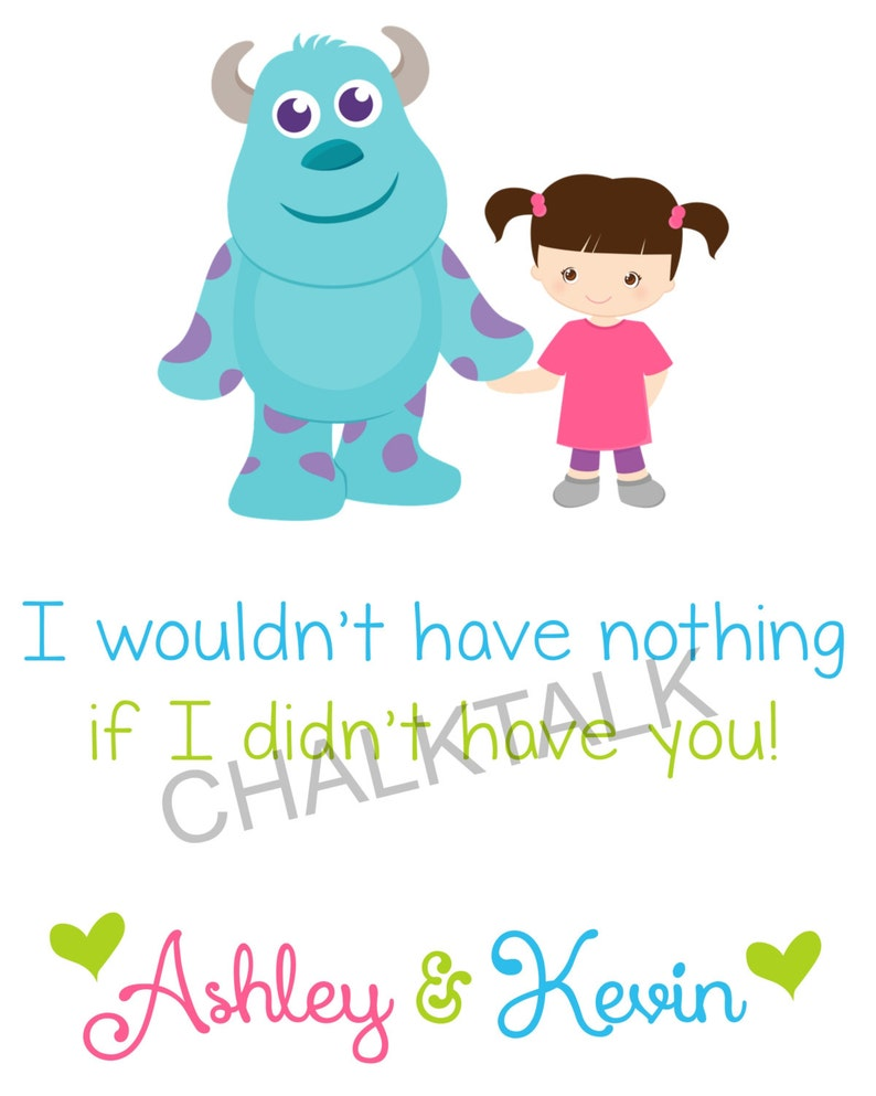 Monsters Inc Nursery Decor If I Didn T Have You Wall Etsy