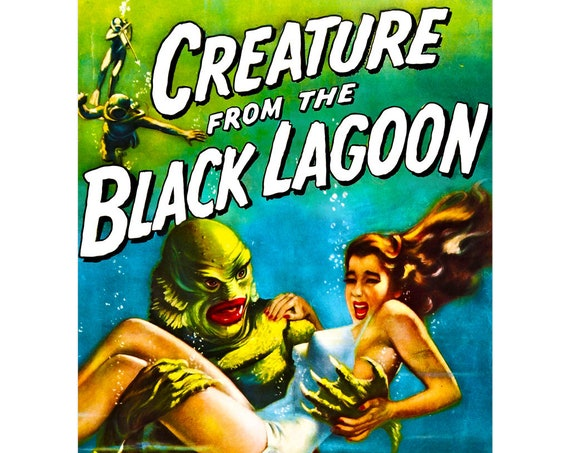 Creature From The Black Lagoon 12 X 16 Inch Movie Poster