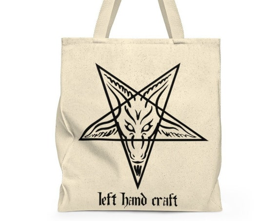 Left Hand Craft Baphomet Shoulder Tote Bag