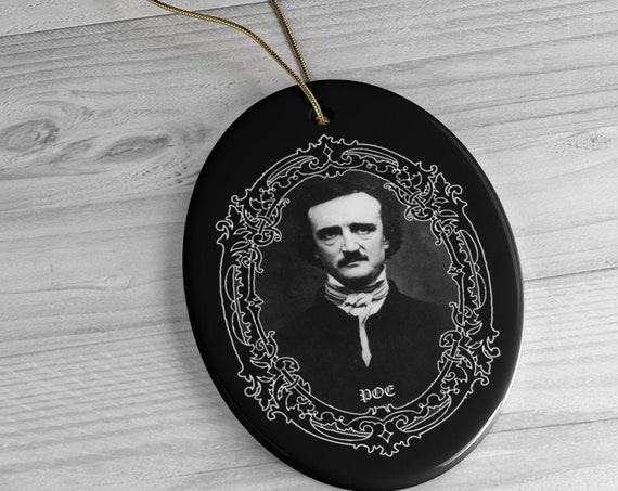 Edgar Allan Poe Ceramic Ornaments