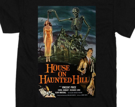 House on Haunted Hill classic horror movie poster tee