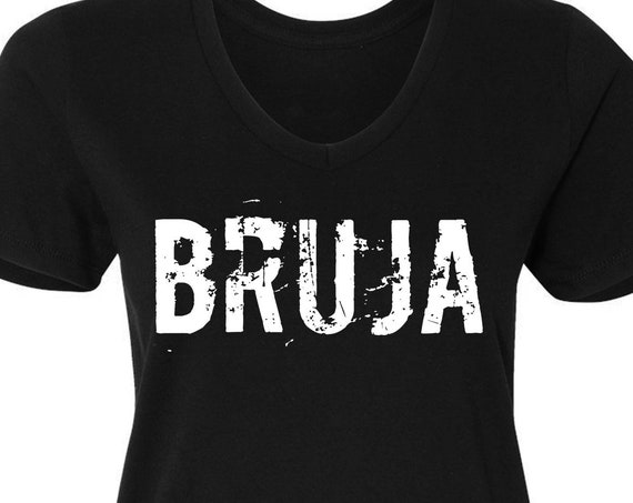 Bruja - Women's V Neck Tee - Witch