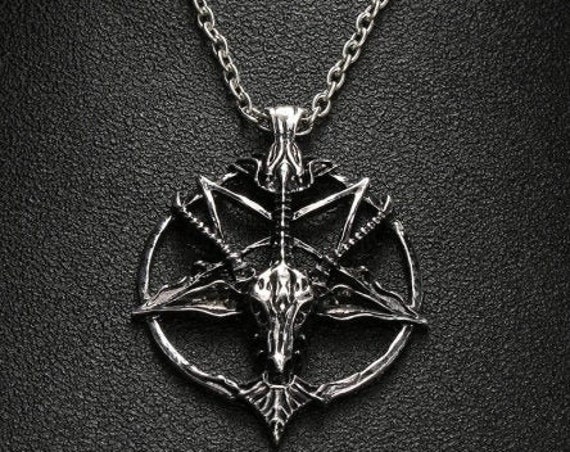Baphomet Pentagram Satanic Necklace