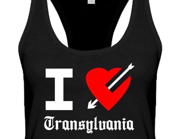 I Love Transylvania Women's Racerback Tank