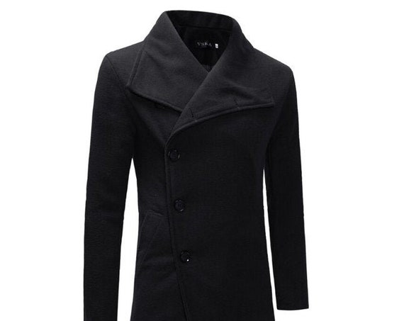 Men's Gothic Trench Single Breasted Coat