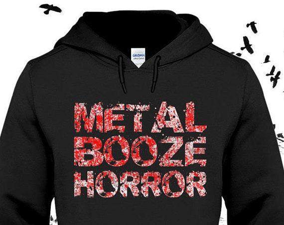 Metal Booze Horror Hoodie