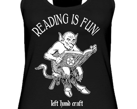 Reading is Fun - Satanic Women's Racerback Tank
