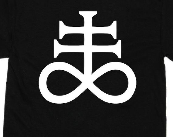 Leviathan Cross T Shirt - Satanic Cross of Sulfur