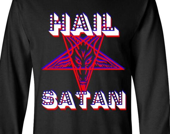 Retro Hail Satan - Long Sleeve Shirt
