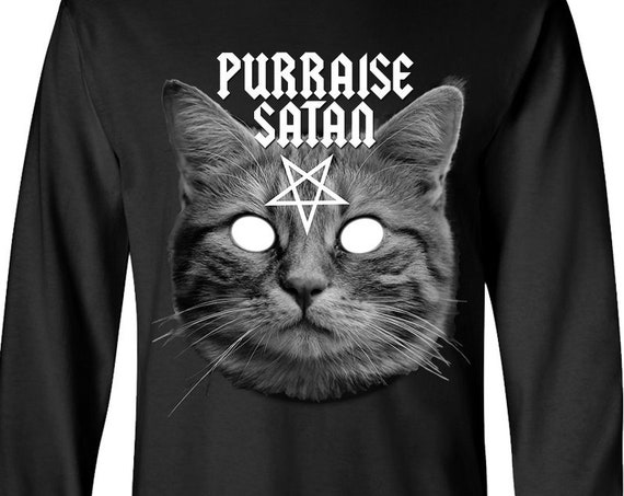 Purraise Satan - Satanic Cat Long Sleeve Shirt