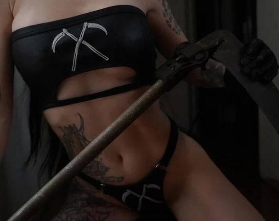Reaper Faux Leather Bikini