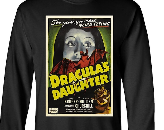 Dracula's Daughter classic horror poster - Long Sleeve Shirt