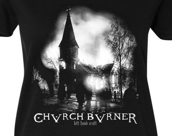 Church Burner - Satanic Women's V Neck Tee Shirt