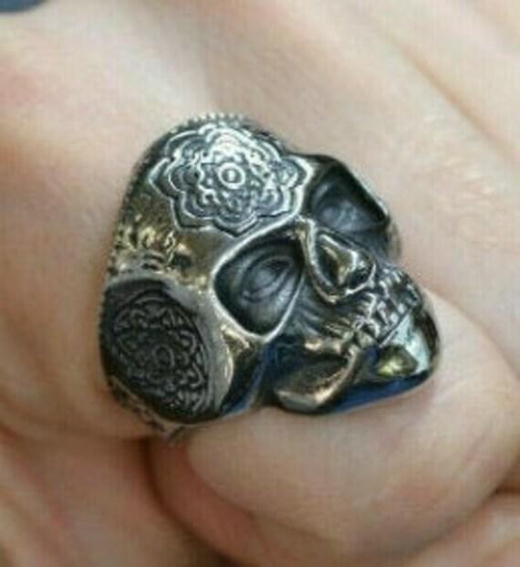 Disciple of Santa Muerte Skull Ring