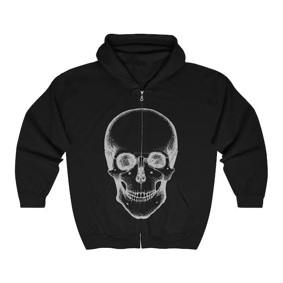 Death Skull Unisex Heavy Blend Full Zip Hooded Sweatshirt
