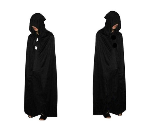 Economy Black Hooded Ritual Robe