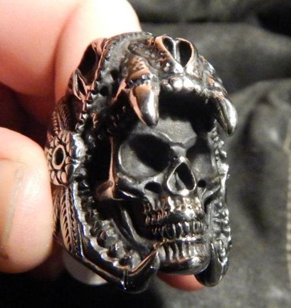 Jaguar Warrior Skull Ring