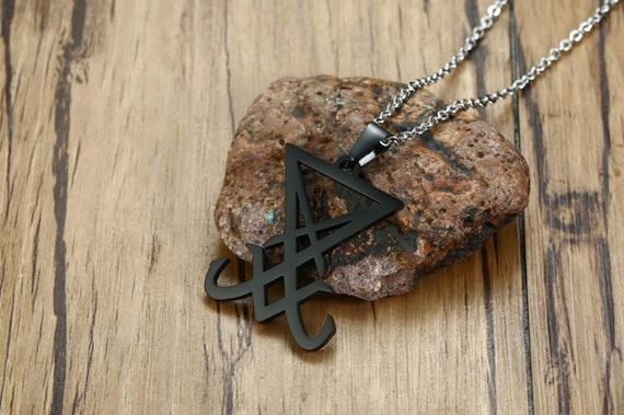 Sigil of Lucifer Satanic Necklace