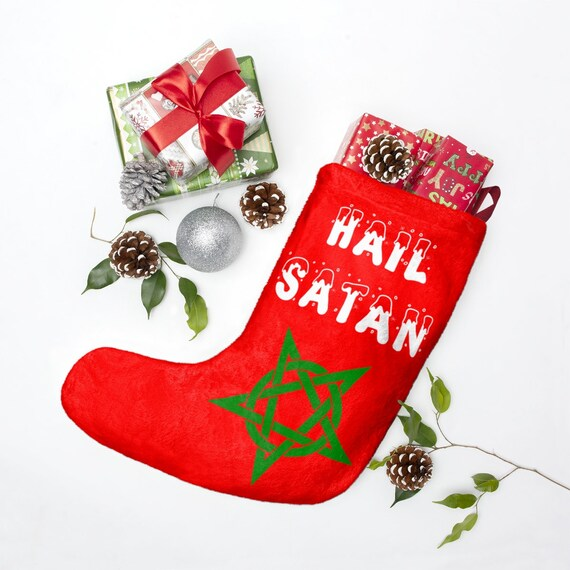 Hail Satan Christmas Stockings