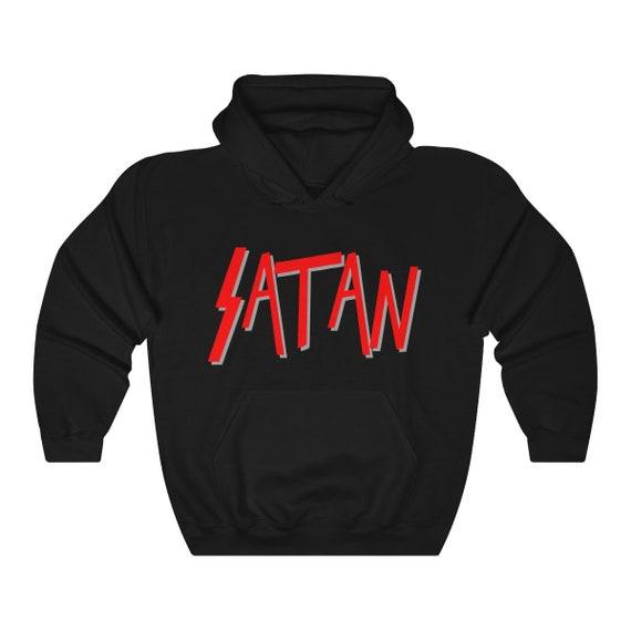 Satan Logo Pullover Heavy Blend Hooded Sweatshirt