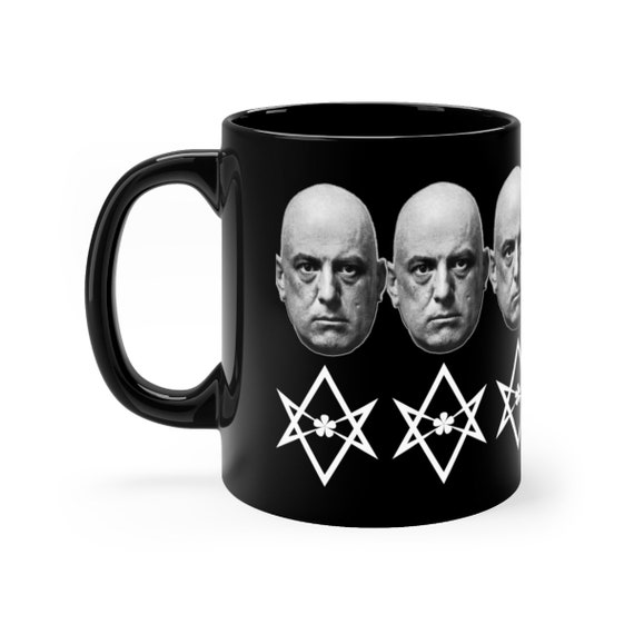 Aleister Crowley Thelema black coffee mug 11oz