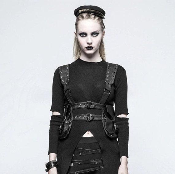 Faux Leather Armor Vest Bag