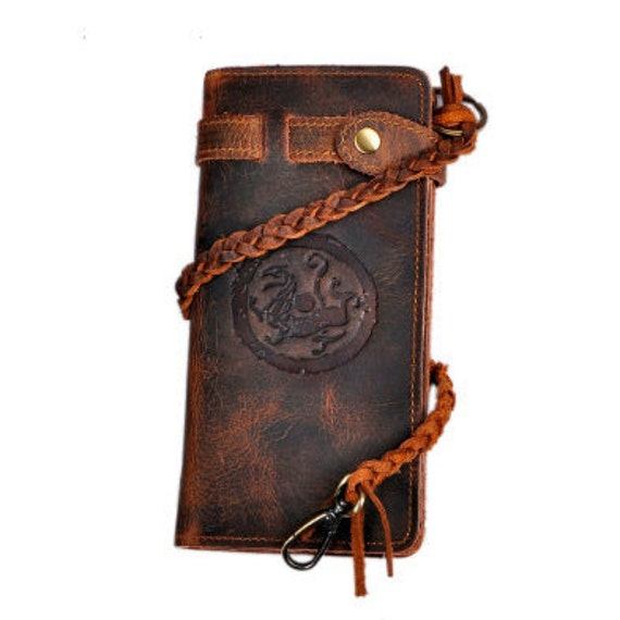 Dragon Stamped Wallet - Genuine Leather