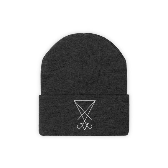 Sigil Of Lucifer Knit Beanie