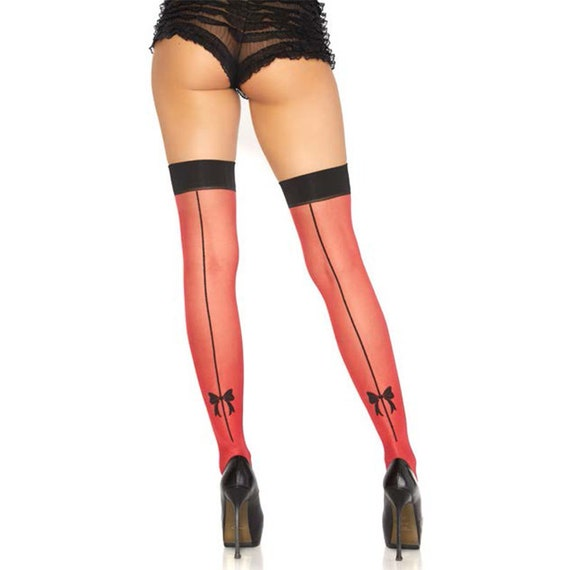 Contrast Color Thigh Highs - One Size