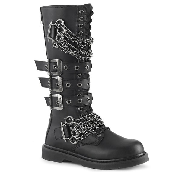 Demonia Men's - Unisex Combat Boots BOLT-450 Brass Knuckles