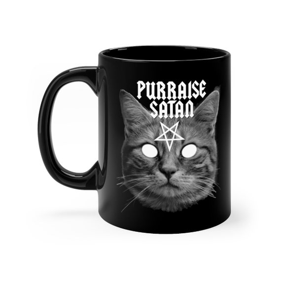 Purraise Satan black coffee mug 11oz