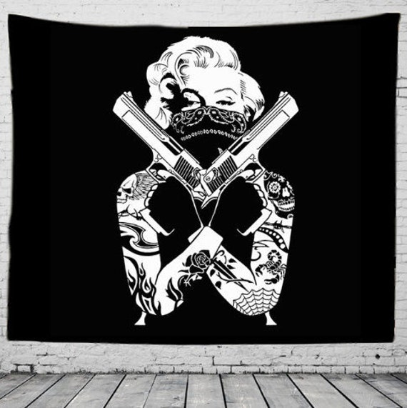 Guns Up Wall Tapestry