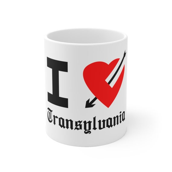 I Love Transylvania White Ceramic Mug