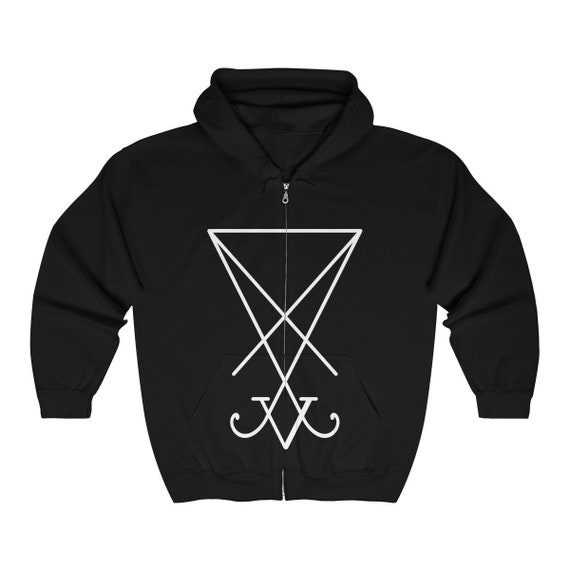 Sigil of Lucifer Heavy Blend Full Zip Hooded Sweatshirt