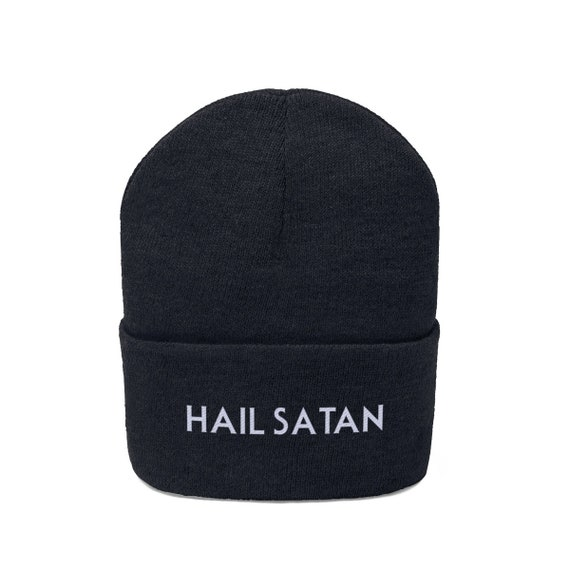 Hail Satan Embroidered Knit Beanie