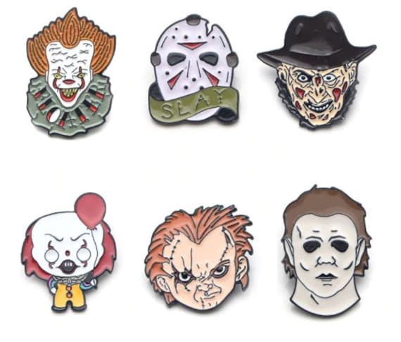 Horror Icons 6 Pin Set