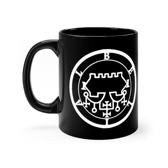 Sigil of Belial black coffee mug 11oz