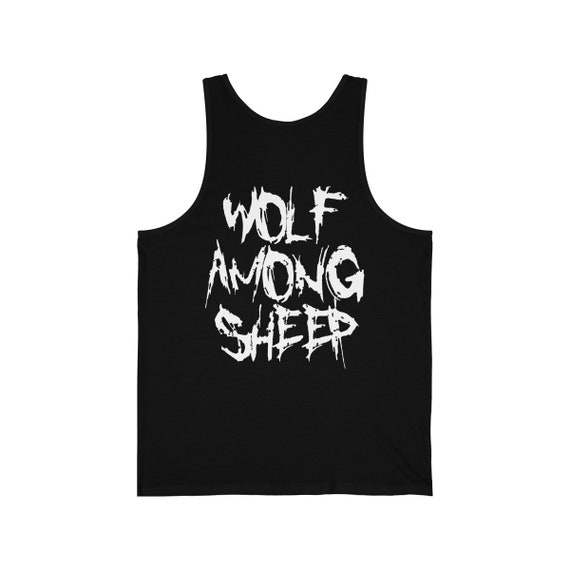 Wolf Among Sheep Front & Back Print Jersey Tank