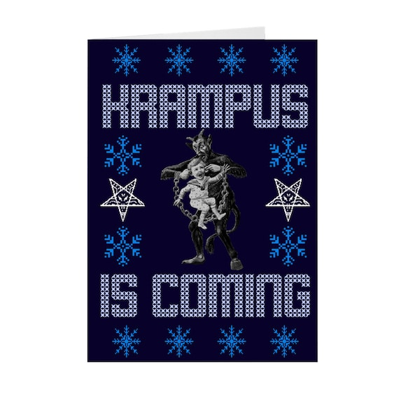 Christmas Cards Krampus Is Coming