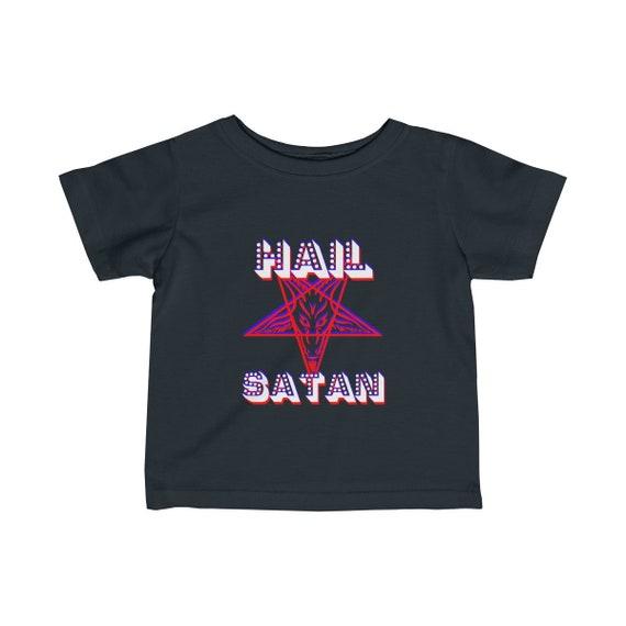 Retro Hail Satan Infant Fine Jersey Tee