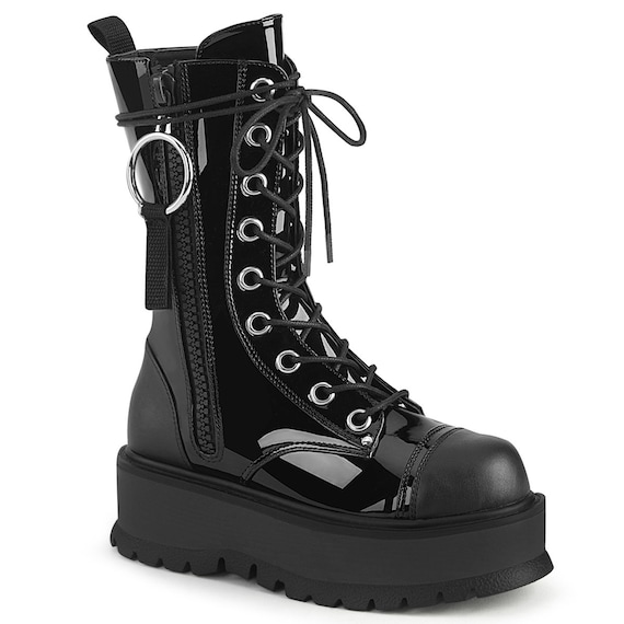 "Demonia - Women's Slacker 220 - Vegan Leather 2"" Platform Boot"