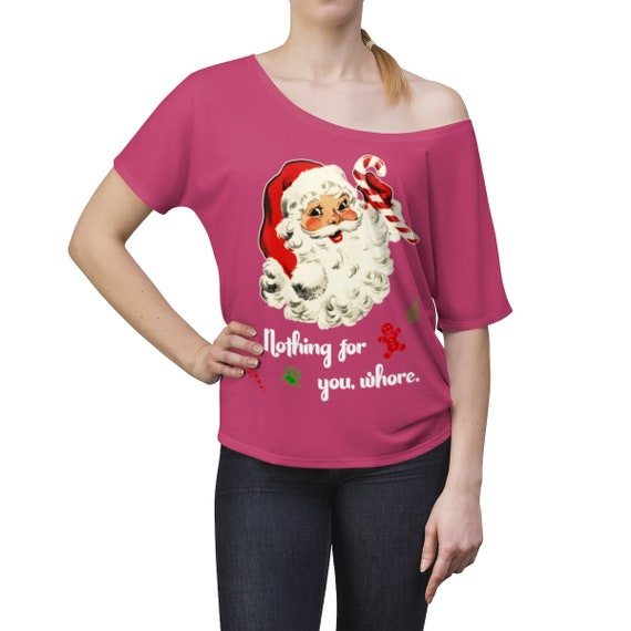 Nothing For You Christmas Women's Slouchy top