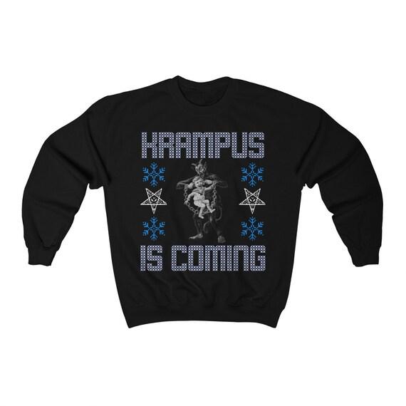Krampus Is Coming Sweater Ugly Christmas Sweater Unisex Heavy Blend Crewneck Sweatshirt