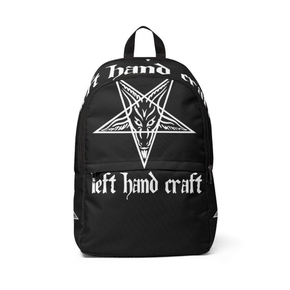 Left Hand Craft Baphomet Unisex Fabric Backpack