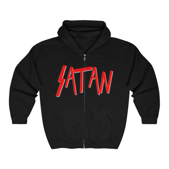 Satan Logo Heavy Blend Full Zip Hooded Sweatshirt